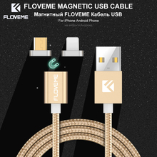 FLOVEME 2 Tips Micro USB Magnetic Cable For Samsung Galaxy S7 S6 Edge Xiaomi Huawei Android USB Cable For iPhone 6 6S 7 5 5S SE
