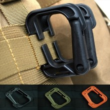 Outdoor3X Tactical EDC Gear Carabiner Molle Backpack KeyRing D-Ring Spring Snap Clip Outdoor survival gear