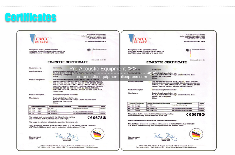 Pro Acoustic Factory Certificate Policy 02