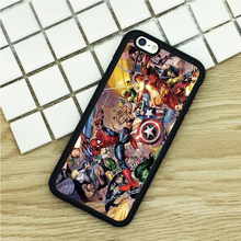 soft TPU Phone Cases For iPhone 6 6S 7 Plus 5 5S 5C SE 4 4S ipod touch 4 5 6 Cover Shell Marvel DC Superheroes Sticker Bomb