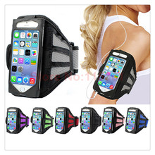 Fashion universal sports running arm band case for Iphone 5,5s SE net mesh cover waterproof fitness Arm Band mobile phone case