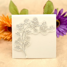 Cherry Blossoms Flowers Scrapbook DIY photo cards account rubber stamp clear stamp transparent stamp 10x9.8cm KW680614