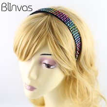 Shinning Hair Accessories Colorful Crystal Bands Beads Headbands for Women Ladies Jewelry Hair Clips Headwear