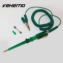 Vehemo Car Circuit Tester 6V 12V 24V Car Voltage Gauge Tester Pencil Car Test Toll Volt Meter Diagnostic Tool with Light Bulb(China)