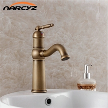 Fast shipping Discount price Fitting Luxurious Decoration Basin Sink Antique Faucet For Bathroom 7402(China)