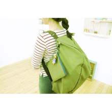 Green Multifunction Convert Foldable Storage Bag Shoulder Bags(China)