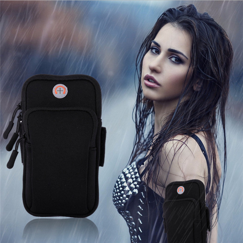 Running Arm Bag Outdoor Sports Armband Case Zippered Fitness Running Arm Band Bag Pouch Jogging Workout Cover For Mobile #3j#F (10)
