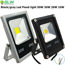 GLW LED Spotlight IP65 50W 30W 20W 10W Led Flood Light LED Street Light Projector Black/grey Projecteur Focos Led 220V Exterieur
