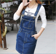 Korean StrapJeans Dress More Girl Denim Sundresses 2017 Simple denim dress Brand Designer Woman Preppy Style Plus Size Club Wear