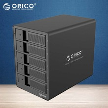 ORICO Tool Free Aluminum USB 3.0 5bay 3.5-inch SATA Hard Drive Enclosure HDD Docking Station Support 5x 6TB Drive (9558U3)