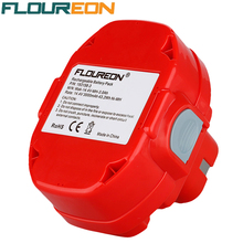 FLOUREON 14.4V 3000mAh Ni-MH 193158-3 Rechargeable Power Tool Battery Replacement Cordless for Makita Drill PA14 JR140D 1420