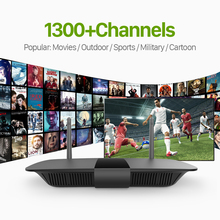 Android IPTV Box Include 1300 European Arabic Turkish Italian France IPTV Channels Quad-core HD 1G/8G Build-in Wifi Set Top Box