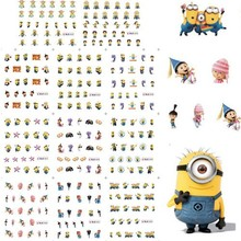 (11sheets in 1) 11Sheets BLE1852-1862 Minions Water decal nail stickers design for nail accessories water transfer stickers