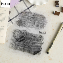 JWHCJ world map transparent silicone stamps, children DIY Handmade Scrapbook Photo Album decor tools students soft Stamp(China)