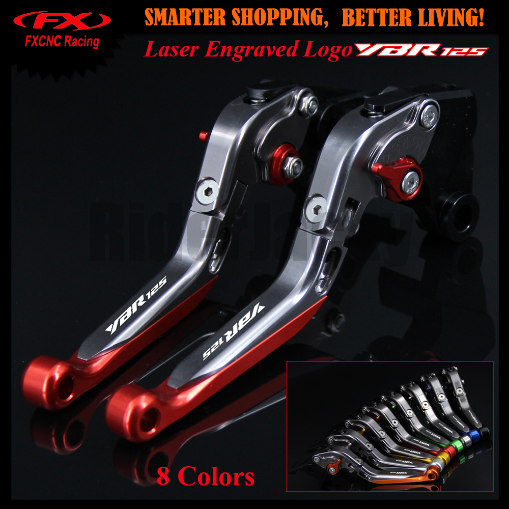 8 Colors For YAMAHA YBR 125 YBR125 2005 2006 2007 2008 2009 2010 Motorcycle CNC Adjustable Folding Extendable Brake Clutch Lever<br>