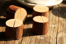 fast delivery creative decoration 5pcs simple wooden stumps original ecological forest note folder photo clip place card holder