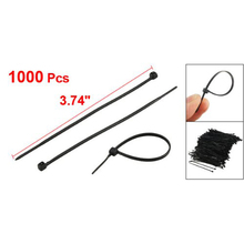 KSOL New Style 1000 Pcs Black Plastic Cable Zip Tie Fasten Wrap 100mm x 1.8mm(China)