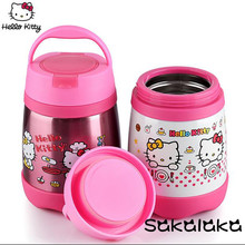 hello kitty 500ml carton vacuum keep warm lunch box stainless steel for kids