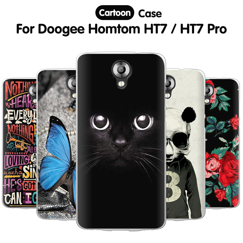 EiiMoo Phone Case Doogee Homtom HT7 Pro Case 5.5 Silicome Cartoon TPU Soft Back Cover Homtom HT7 / HT7 Pro Cover Capa
