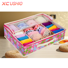 7 Grids Folding Non-woven Fabric Bra Storage Box Adjustable Underwear Socks Organizer Case Closet Divider Home Storage Box