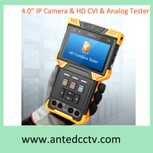"2015 new Hybrid IPC Tester CCTV IP camera & HD-CVI & Analog video camera signal tester with 4.0"" LCD POE ONVIF PTZ test tool"