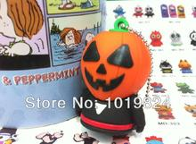 100% real capacity Retail wholesale 8G 16G Halloween Pumpkin Creator  figure USB Flash Drive pen drive memory stick S504