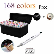 168 colors  Double Headed Art copic markers set designers art mark pen Alcohol paint Marker pen manga cartoon graffiti sketch