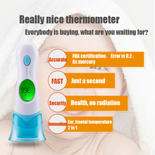 1Pcs Multifunctional Smart Adult Kids Medical Fever Body Electronic Forehead Ear Baby Infrared Digital Thermometer Lcd Products(China)