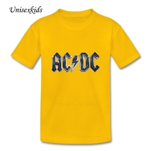 ACDC Rock Music Baby Camisetas Boy Girl Unisex Short Sleeve 100% Cotton T Shirts Kids Summer Clothes Printing t-Shirts Top