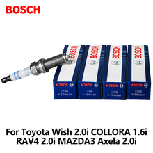 4pcs/lot BOSCH Car Spark Plug For Toyota Wish 2.0i COLLORA 1.6i RAV4 2.0i MAZDA3 Axela 2.0i Lexus Iridium VR7NII33X auto part(China)