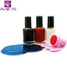 Nail Print Machine, DIY Nail Art Stamping Kit 3pcs 10ml nail+4 pcs image plate +scraper and stamp(China)
