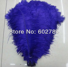 Free Shipping 100pcs/lot Dark Blue/Turquoise ostrich drab feather ostrich plumes 16-18inch 40-45cm for wedding centerpieces