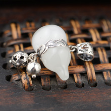 Black silver jewelry wholesale 925 sterling silver jewelry high imitation ivory cute calabash 045425w(China)