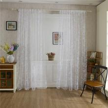 100*200cm Home Textile Rod Pocket Design Door Living Room Bedroom Sheer Tulle Window Curtain Butterfly Voile Curtain Gauze