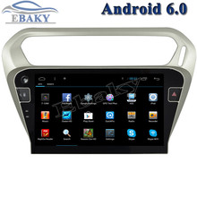 New 1024*600 Quad Core 10.2inch Android 6.0 Car Radio player for Citroen Elysee 2014- With Bluetooth 16GB Flash Nand 3G Wifi