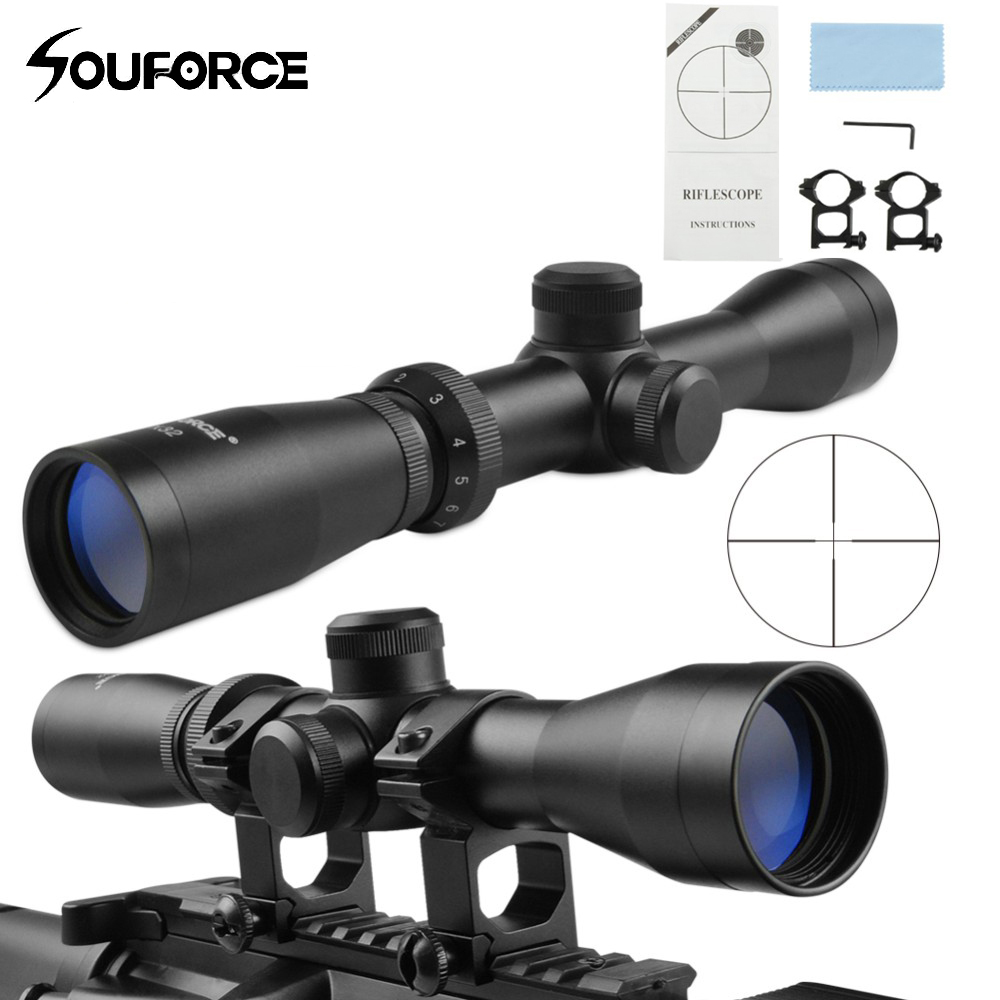 Tactical 2-7x32 Long Eye Relief Scope+Short Scout Mount Combo for Hunting Rifle and Airsoft Drop Shipping<br>