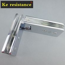 Ke resistant imported 135 pure copper mirror chrome thick glass shower door hinge hinge clip clip(China)