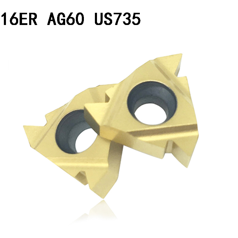 MMT 16ER AG60 US735 carbide inserts Thread Turning tool cutting tool Lathe Tools Milling cutter CNC tool 16ERAG60(China)