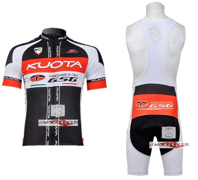 3D Silicone! KUOTA 2011 bib short sleeve cycling jerseys wear clothes bicycle/bike/riding jerseys+bib pants<br><br>Aliexpress