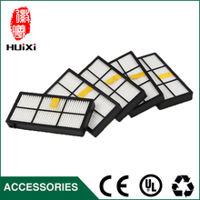 5 pieces/lot Black and White HEPA Filter Kit Replacement filter for vacuum cleaner 870 880 980 Robot Vacuum Cleaner Accessories