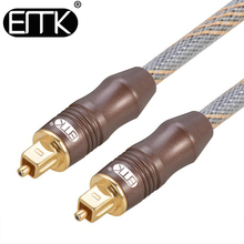 EMK Quality Toslink Optical Audio Cable 6mm Audio Spdif Cord cable For DVD CD DAT Cable Manufacturers 1.8M(China)
