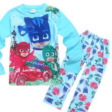 2017 New Spring Autumn Clothing Home Furnishing Girl Boy Long Sleeved children's pajamas kids clothing sets ninjago(China)
