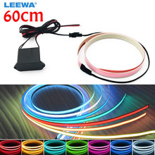 5sets Car 60CM*14MM Electroluminescent Tape EL Wire Cold Light Strip Car Ambient Light DC12V 10 Colors #CA4466(China)