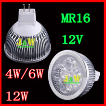 20pcs/lot CREE 4W, 6  12V Dimmable Lamp MR16/GU10/E27 Led light Spotlight equal to 50 halogen watts , free shipping