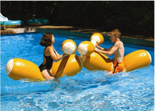 Water inflatable floating bed wood adult swimming pool supplies toy 4pcs/set