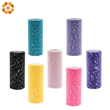 25YardX15cm Glitter Sequin Tulle Roll Crafts Diamond Organza Sheer Element For Table Runner Home Garden Wedding Party Decoration(China)