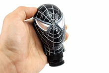 Universal Car Truck Manual COOL Gear Stick Shift Lever Knob Carved Spider Man Black MOMO Gear Shift Knob