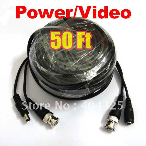 50ft 15M Video Power CCTV Cable With BNC Male For Security Camera a75<br><br>Aliexpress