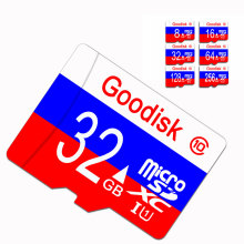 HOT Russian flag Micro SD Card 8GB mini sd card 16 GB 32GB 64GB Class 10 Memory Card 128GB Flash Memory for SMART Phones Tablet(China)