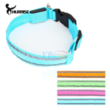 LED Nylon Ribbon Pet Dog Collar Night Safety Flashing Glow Electric Product For Dogs Pet Supplies Collars for Small Dogs Cats